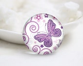 10mm 12mm 14mm 16mm 18mm 20mm 25mm 30mm Handmade Round  Photo Glass Cabochon Dome Butterfly Pattern Glass Cabs    (P2563)