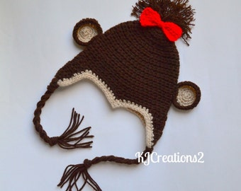 Monkey Hat-Newborn size.
