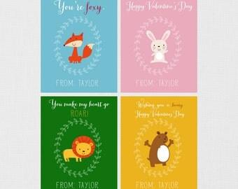 Woodland Valentines, Woodland Animal Valentines, Funny Valentines, Kids Valentines, Printable Valentines, Kids Funny Valentines, PRINTABLE