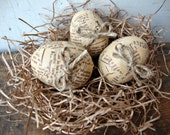 Vintage Inspired News Print Easter Eggs