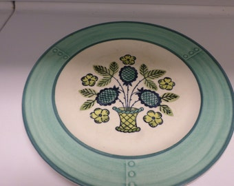 "Vintage Poppytrail Plate Blueberry Provincia 10 1/2"" Hand Painted Made in USA Flowers Serving"