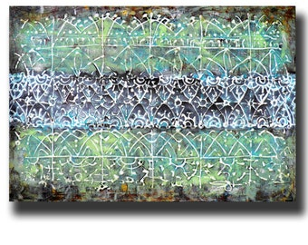 Art Painting Canvas painting ORIGINAL  ABSTRACT  PAINTING on canvas  Ornaments 24''x36'' Acrylic on Canvas