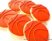 Hand decorated Basketball sugar cookies (#2372)