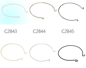 10pcs Creative Wire Hoop Brass Bracelet Pendant, Hoop Bangle Bracelet
