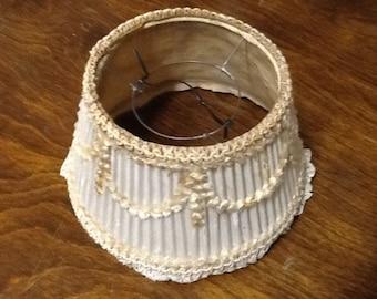 Charming miniature vintage delicate feminine lampshade