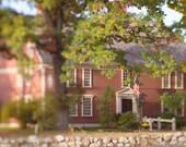 Autumn fine art photography dreamy landscape photo fall New England large wall art home decor green brown Longfellows Wayside Inn Sudbury