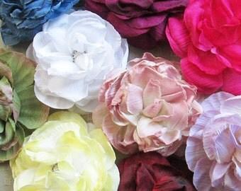 Garden Rose Hair Flower Clip & Pin - 11 Color Choices!