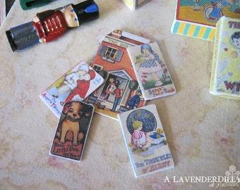 Vintage Die-Cut Children's Books  for Dollhouse