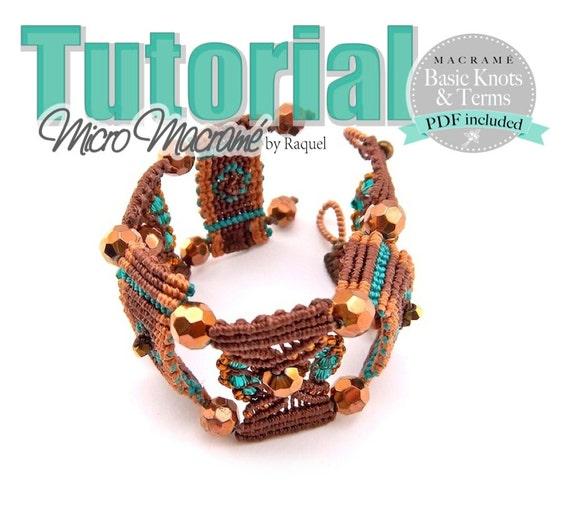 """Micro Macrame TUTORIAL """"Brown Steps"""" Bracelet"""