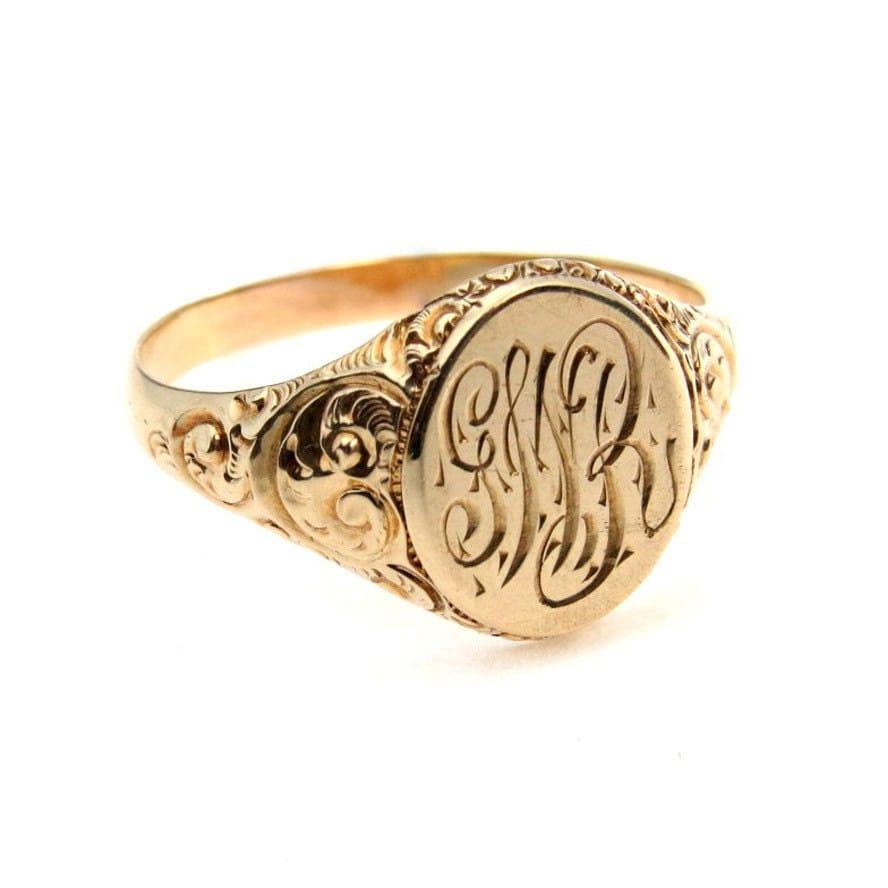 antique signet ring gold ring signet