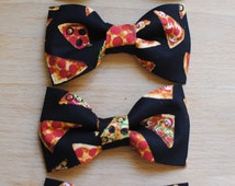 AWESOME Pizza design hair bows/Pizza bow ties, little girl hair bow,Nerdy cute bow ties,fun design,pizza accessory,pizza style,pizz hairbow