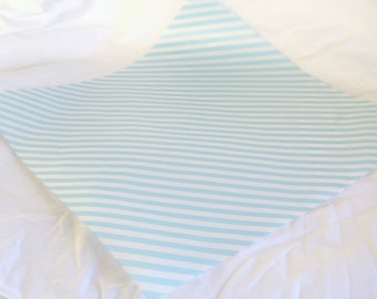 12 Light Blue Diagonal Stripe WAX PAPER sheets-Pink Lemonade party shop EXCLUSIVE-basket liners-food safe