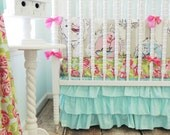 Boutique Baby Bedding, Aqua Skirt Only