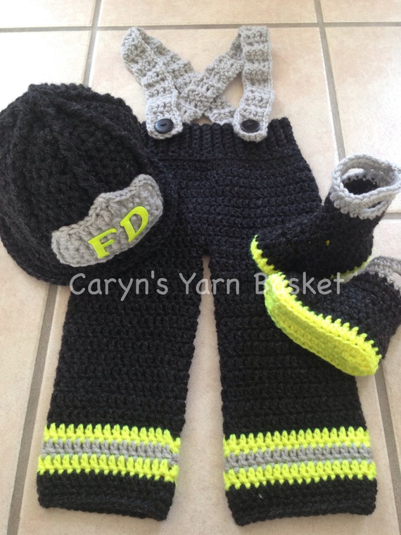 Crochet Patterns For Baby Frocks : CROCHET PATTERN 9-12M Size Baby Firefighter Fireman Hat