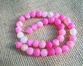 Pink Round Druzy Fire Dragon Veins Agate Gemstones   10MM