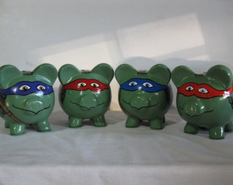 Personalized Piggy Bank,  Martial Arts Tortoise/Turtle Piggy Bank - MADE TO ORDER