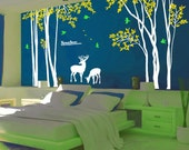 Forest Decals room decor wall stickers  Kids wall decals baby decal nursery decal room decor wall decor wall art -deer forest