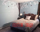 Vinyl wall decals wall stickersTree  decals -lovely tree with birds