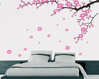 Removable Vinyl wall sticker -cherry blossom branch