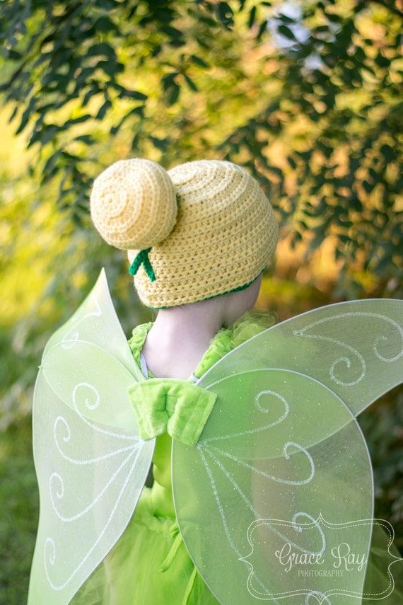 Free Crochet Pattern For Tinkerbell Hat : Crochet Tinkerbell Hat