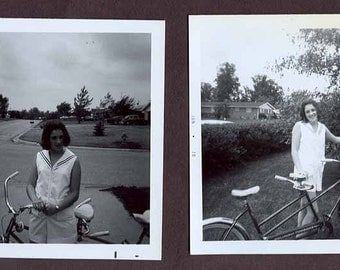 BICYCLE bike built for two LOT of 2 Vintage 70s photographs PHOTOS and 2 negatives