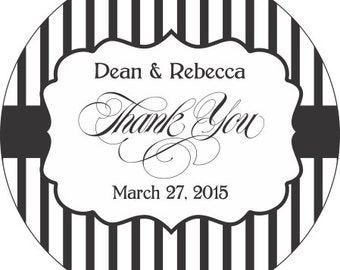 "60 2.5"" ROUND Thank You Wedding Stickers Personalized with your text and colors -  Compare and Save"
