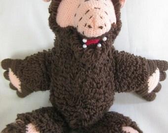 Stuffed Alf with Faux Pearl Teeth