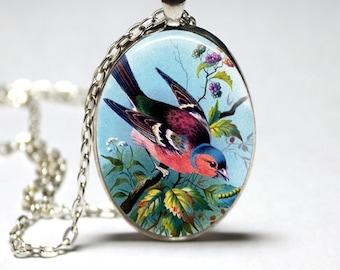Bird Necklace Wearble Art Pendant Bird Jewelry