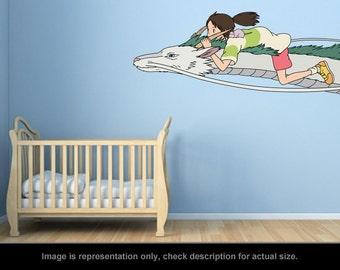 Spirited Away Inspired - Chihiro and Haku Wall Art Applique Sticker