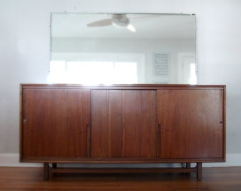 Vintage Mid-Century Lowboy Dresser by Cavalier - Mid Century Modern - Twelve Drawer Dresser with Mirror