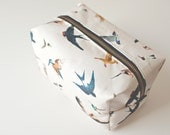 Travel  Box Pouch- Bird Travel Pouch