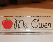 Personalized Teacher Desk Nameplate/ Office Desk Name Plate
