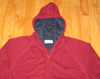 Rare Vintage 1990s Fred Perry Rave Hooded Sweatshirt