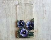 Purple Pansies iPhone 5 or 5s Case
