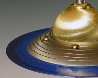 Retro UFO Flying Saucer table lamps.. 228. Steam punk industrial lamp. Mid century modern. 50s Atomic.  FAR OUT