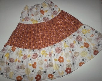Little girls' long tiered skirt sz 4