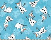 Disney's Frozen Olaf Snowflakes Snow Flakes Fabric by the Yard