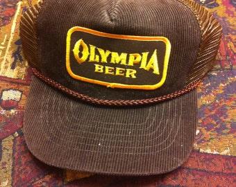 olympia beer vintage snapback trucker hat. Black Bedroom Furniture Sets. Home Design Ideas