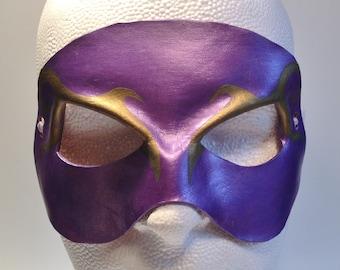 Villianous Clown New Years Mardis Gras Mask Purple Mask Mardi Gras Costume Halloween Mask Court Jester Halloween Costume Masquerade Mask