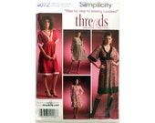 Pullover Dress Simplicity 4072 Pattern Threads Collection Size 8 to 16