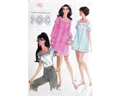 Dress Blouse Nightgown from the Sixties Pattern McCall's 9737