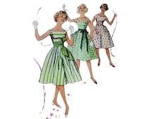 Girls Vintage Dress Pattern Simplicity 2980 CUT