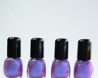 Purple Nail Polish Posh Duo chrome Blue violet Vegan nails free from harsh chemicals indie nail polish Glossy
