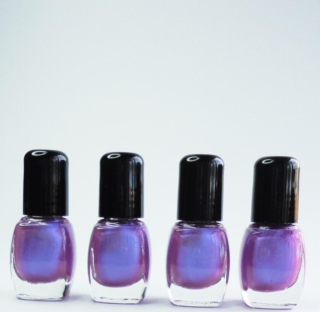 Purple Nail Polish Posh Duo Chrome Blue Violet Vegan Nails