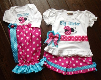 Boutique Newborn Pink or Red ladybug Themed Gown ONLY Size Newborn 0 to 3M or 3 to 6 Months