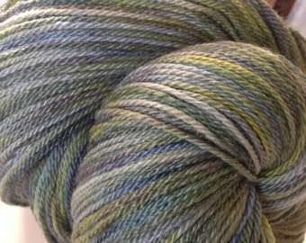 Lemon Thyme - Crystal Fingering Weight - Hearthside Fibers Hand Dyed