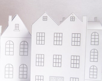DIY Paper Houses, Ready Design Templates To Print, Cute Christmas  Decoration!, Create