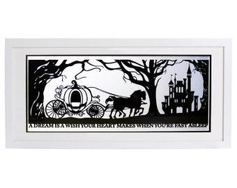 Cinderella's Dream Signed Papercut Print