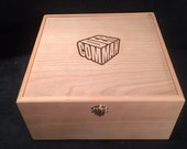 Magic the Gathering Engraved Commader Deck Box with Hinges & Latches-10 3/4 x 10 5/8 x 5