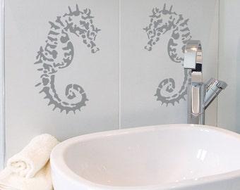 Sofia Seahorse Stencil from The Stencil Studio. Reusable home decor & DIY stencils, simple to use. 10115